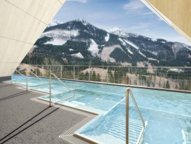 Whirlbank for hotel pool